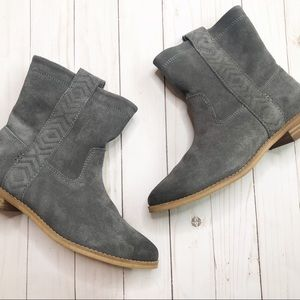 TOMS gray booties size 7